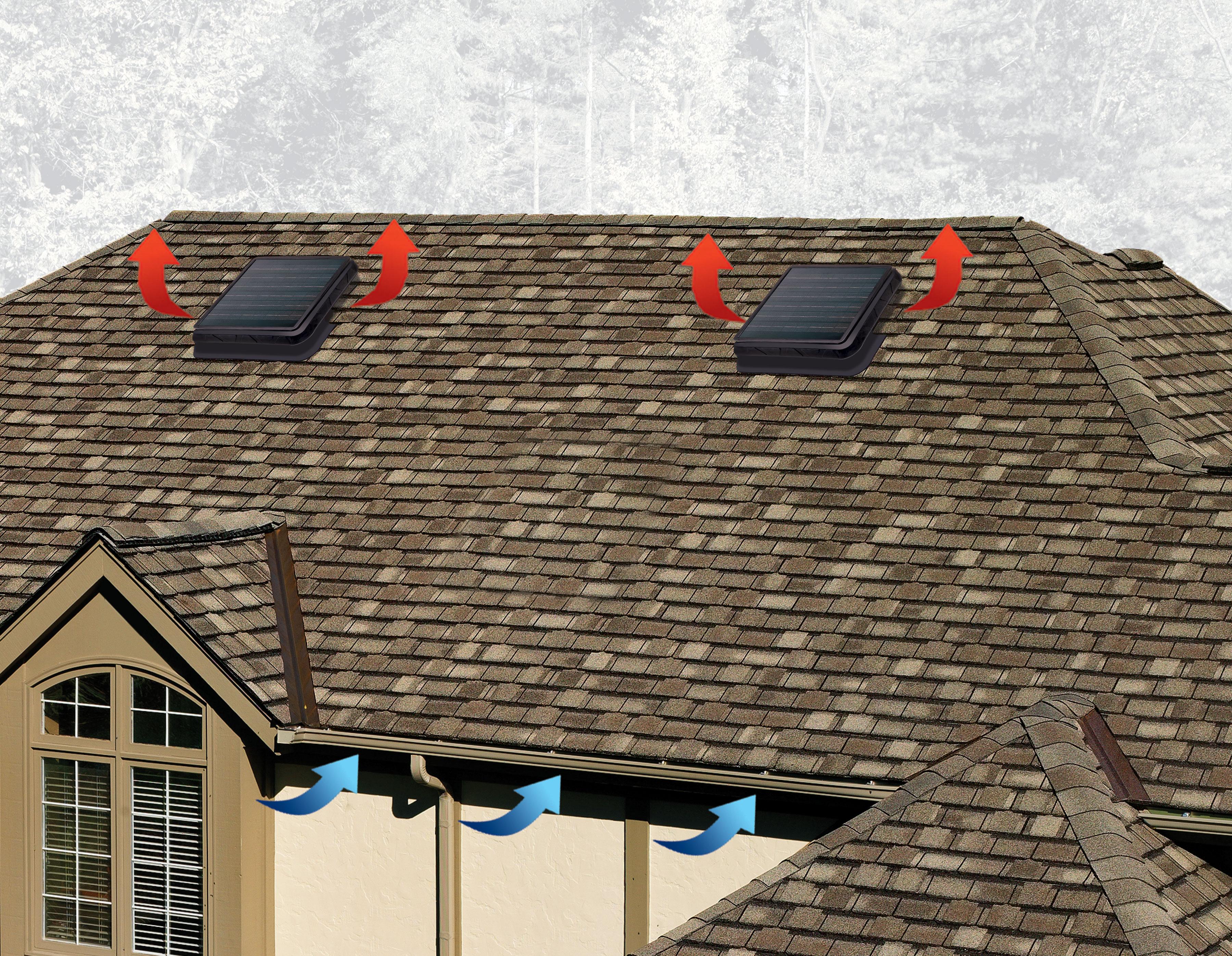 Master Flow Green Machine High-Power Solar Roof Vent