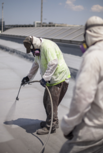 Honeywell's spray foam roofing system formulated with Solstice Liquid Blowing Agent