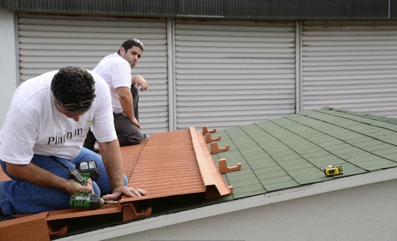 The Platinum 78 metal roof tile system