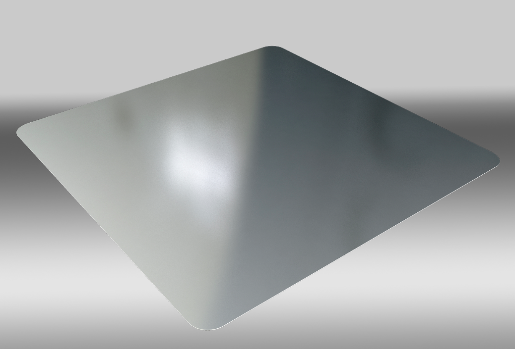 Alucobond Axcent flat panel, a line of painted aluminum metal panels designed for installation as building trim