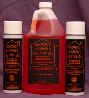 Roofer's and Paver's Edge Tar, Asphalt, Adhesive and Tack Oil Remover