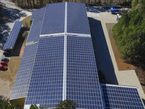 McElroy Metal installed 1,960 solar panels on its facility. PHOTO: McElroy Metal