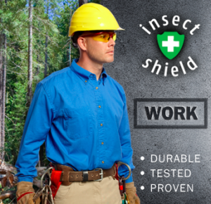 The Insect Shield assortment consists of work wear, professional apparel and including clothing that also offers sun protection, flame as well as additional protective items such as mosquito nets for use at home.