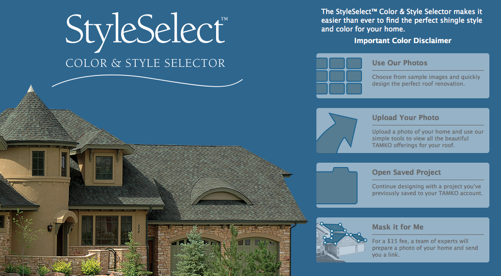 TAMKO unveils a redesigned StyleSelect Color and Style Selector.