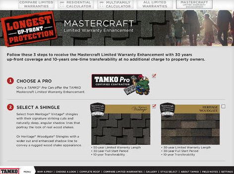 TAMKO Building Products' app developed especially to meet the needs of TAMKO Pro Certified Contractors