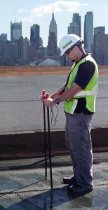 Vector mapping from IR Analyzers detects leaks in low-slope roof systems.