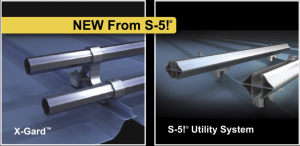 S-5! has released the X-Gard pipe snow-retention system and the S-5! Utility System.