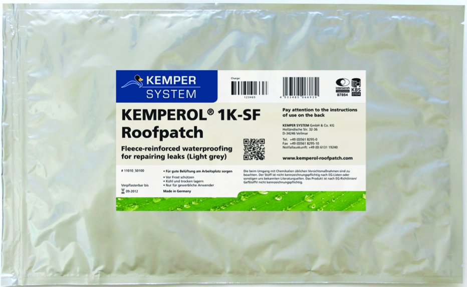 The KEMPEROL Roofpatch Provides 50 Years of Waterproofing