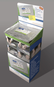 The kit's flat aluminum packaging includes rubber gloves and a reinforcement fleece pre-saturated in a single-component, solvent-free and odor-free KEMPEROL 1K-SF waterproofing resin.