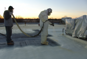 As a roofing material, closed-cell SPF acts as a protective roofing mechanism and a thermal insulator.