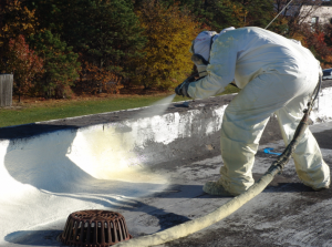 Spray foam is a good solution for unusual configurations and areas with many penetrations.
