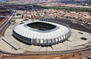 The Plácido Castelo Stadium in Fortaleza, Brazil, features SUNTUF corrugated polycarbonate.