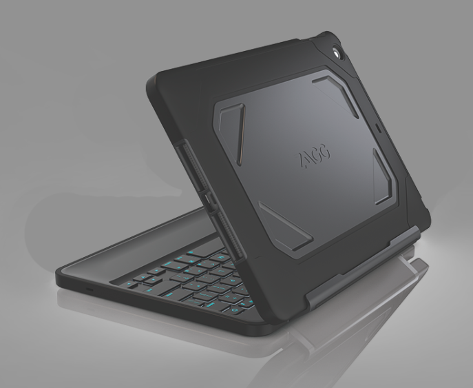 ZAGG Inc. has released the ZAGG Rugged Folio, a durable, multi-layered Bluetooth keyboard case designed for Apple tablets.