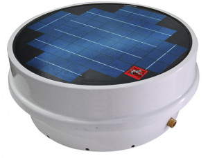 The Sentinel II LP Solar Roof Pump is a stationary unit with an embedded solar panel.