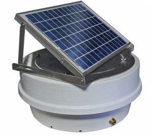 The original Sentinel II XD Solar Roof Pump includes a rotatable 20-Watt solar panel.
