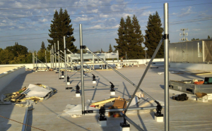 Pacific Sheet Metal installed 320 lineal feet of pre-engineered modular rooftop framing around the HVAC equipment on the store's roof.