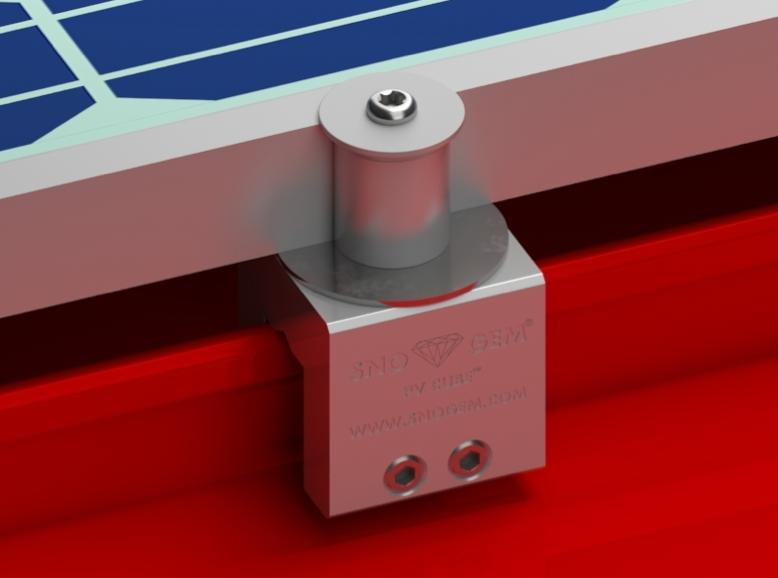 Sno Gem Inc.'s PV Cube standing-seam attachment system