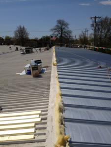 An MR-24 roof system from Butler Manufacturing was installed as part of a low-profile metal-over- metal retrofit.