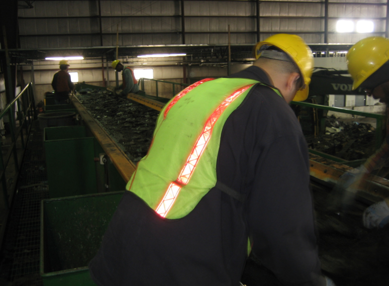 Recycling asphalt is often cheaper than the landfill option and can be made even less expensive if tear-off materials are separated properly at the building site. PHOTO: OWENS CORNING