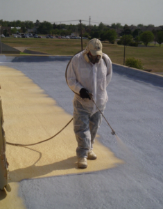 SPF has the ability to insulate, air and water seal, as well as control moisture throughout the structure, acting as a single-source solution, reducing the need for multiple products.