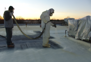 In roofing, SPF acts as a protective roofing solution and as an insulator.