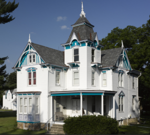 Formerly known as the Phelps mansion, this Victorian-style house was built in 1888.