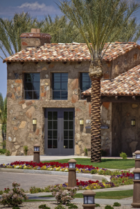 Installing a clay tile roof requires much more labor, especially when a two-piece tile is specified. For every square foot of roofing, you have two pieces—tops and pans.