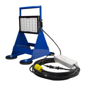The magnetically mounted LED work light produces 14,790 lumens of high-intensity light.