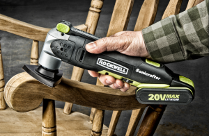 The Rockwell 20V MaxLithium Sonicrafter makes short work of numerous DIY projects and repairs without the need for an electrical outlet or power cord in tow.
