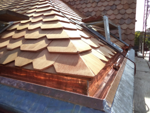 Sheet-metal gutter linings, whether made of copper, lead or both, are relatively involved and require the services of a highly skilled artisan craftsman.