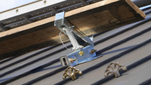 The SeamSafe Roof Bracket easily attaches to SeamSafe Roof Anchors and adjusts to multiple angles to provide secure support.