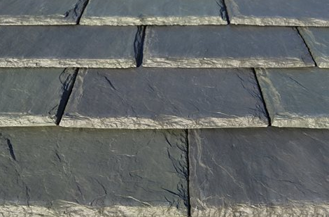 The single-width slate 12-inch tile from DaVinci is available in Smokey Gray.