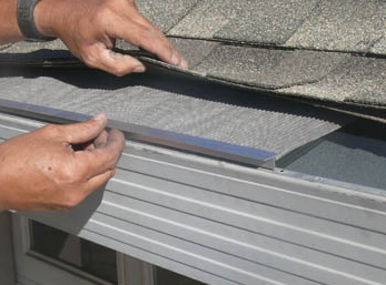 The back of Gutterglove's LeafBlaster can be easily bent up or down in order to fit any gutter and roof, without compromising the rigidity of the cover. LeafBlaster will fit on any roof, including asphalt shingle, standing-lock metal seam, stone-coated steel or flat membrane roofs.