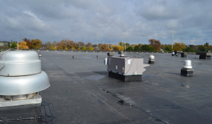 This fully adhered, 90-mil EPDM roof system has an expected service life of 50-plus years.
