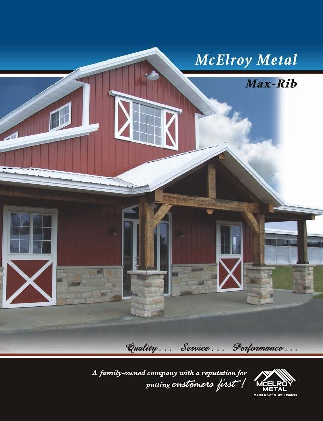 McElroy Metal has updated the brochure on one of its most popular through-fastened metal roofing panel profiles, Max-Rib.