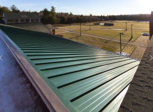 Garland's new R-Mer Shield structural standing-seam roof system boasts a 2-inch-high vertical seam with an extruded aluminum clip and top rail system that provide wind-uplift performance, ensuring watertight protection in the harshest environments.