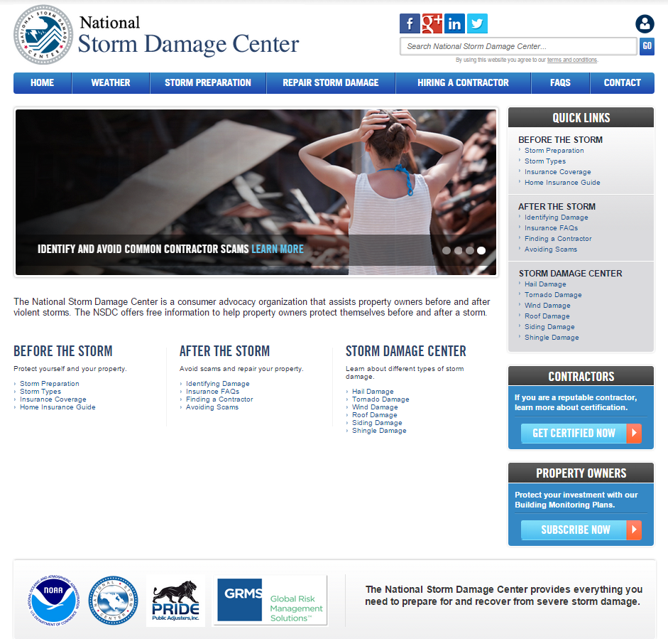 The National Storm Damage Center has developed a portal that offers forensic, geo-targeted technology.
