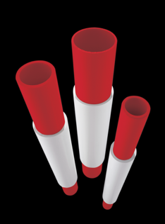 OMG Roofing Products' line of Tubos vent stack extenders now come with an OMG Red insert splice sleeve.