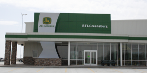 After being completely destroyed by an EF5 tornado, the BTI-Greensburg John Deere Dealership has been rebuilt in Greensburg, Kan., in a better, greener way.