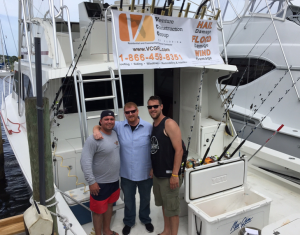Venture Construction Group's Chris Polino, Shanton and Mike Geary (left to right) sponsored the Advocates for the Rights of the Challenged of Martin County Fishing Tournament in Stuart, Fla. The event raised money for children and adults with developmental disabilities.