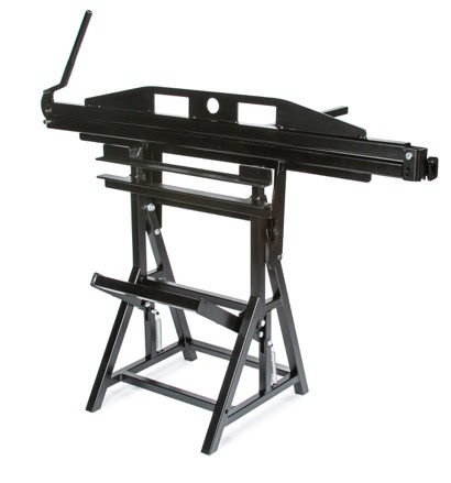 The Base and Ridge Bender is a combination tool used for bending stone-coated steel to control water from blowing into the roofing system.
