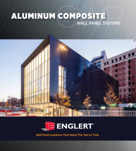Englert Inc. has announced the availability of a print and online brochure for its line of aluminum composite material wall panels.