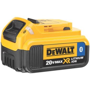 DEWALT launches its first line of premium 20V MAX 2.0 Amp (DCB203BT) and 4.0 Amp (DCB204BT) lithium ion batteries with Bluetooth capability.