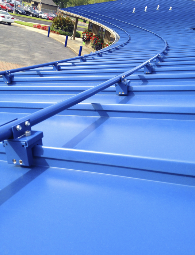 Sno Gem Inc. has introduced Sno Blockade, a permanent snow-retention system that is aesthetically pleasing on standing-seam metal roofs.