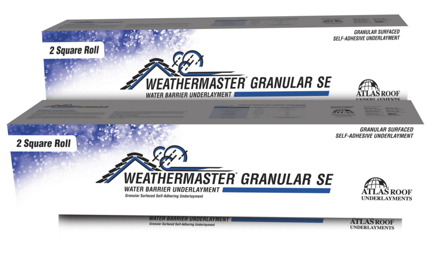 Atlas Roofing has released its WeatherMaster Granular SE underlayment, which can help prevent ice dams from forming.