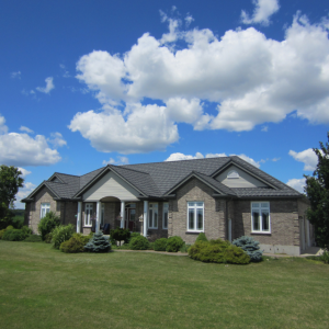 Metal Roof Outlet, Courtland, Ontario, Canada, installs Allmet stone-coated metal roofs because of the roofs' many benefits.