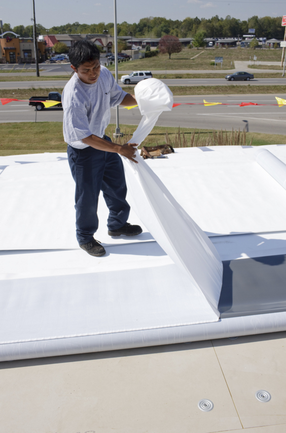 GenFlex Roofing Systems has introduced an enhanced self-adhesive technology for its EZ TPO Peel & Stick membrane.