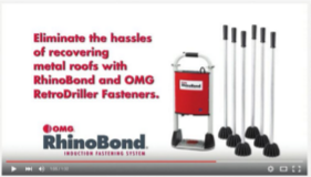 OMG Roofing Products has unveiled a video showcasing how easy it is to install thermoplastic single-ply membranes on standing-seam metal recover projects using the RhinoBond induction welding system.