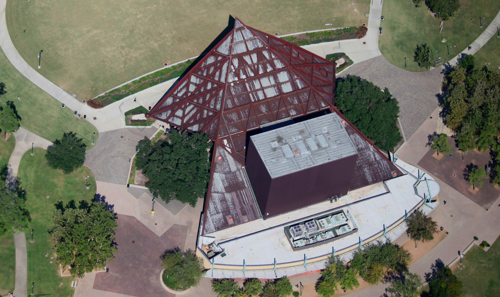 BEFORE: The multi-million dollar renovation in Hermann Park served to correct canopy deficiencies that caused leaks above the stage and audience.