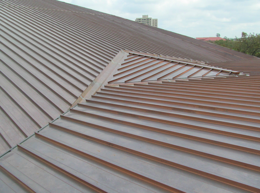 Using Copper Helped The New Roof Blend In With The Original Framework. The  Profile Was